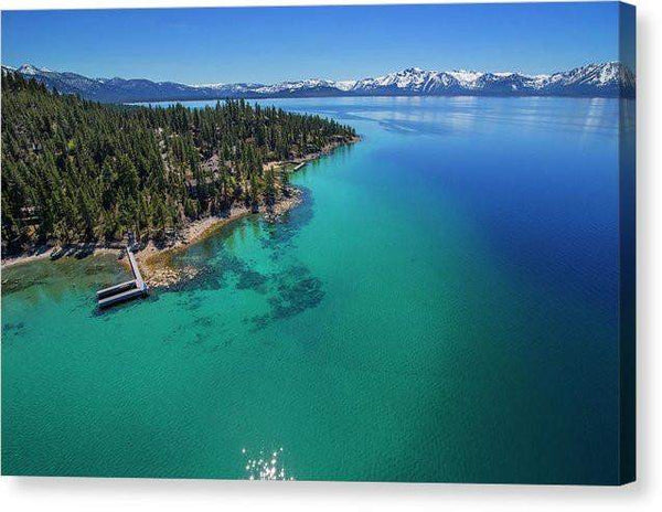 "Zephyr Point Aerial - Canvas Print-10.000"" x 6.625""-Lake Tahoe Prints"