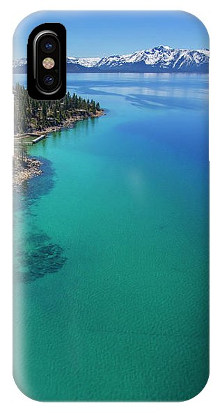 Zephyr Point Aerial by Brad Scott - Phone Case-Phone Case-IPhone X Case-Lake Tahoe Prints