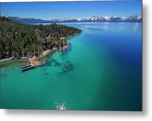 Zephyr Point Aerial - Metal Print