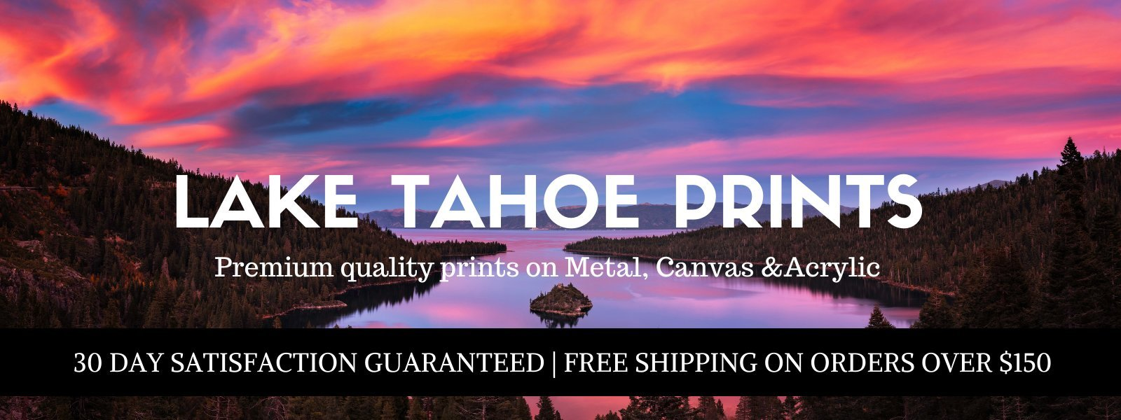 Lake Tahoe Wall Art-lake tahoe prints