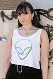 Gradient Alien Crop Top