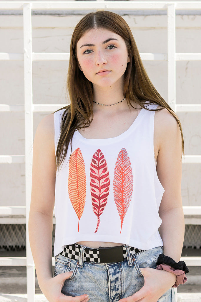 Three Leaves Crop Top