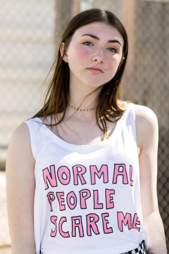 Normal People Scare Me Crop Top