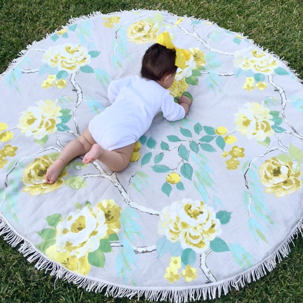 "Padded Baby Play Mat - ""Yellow Canary"""