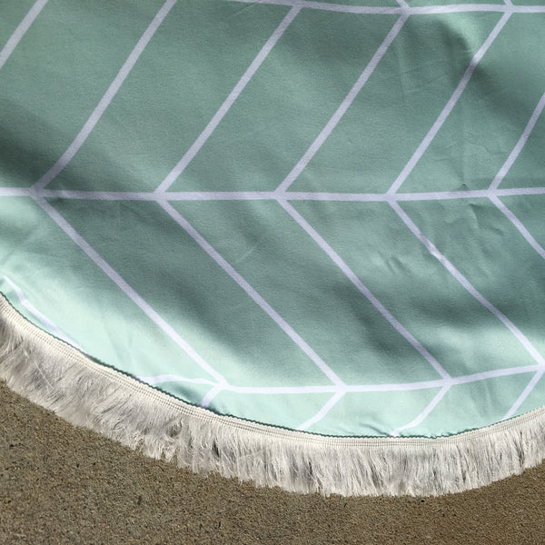 "Padded Baby Play Mat - ""Spear Mint"""