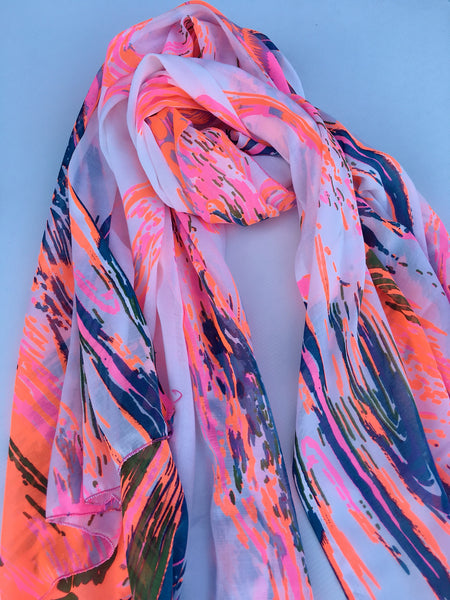 "Breastfeeding Scarf - ""Neon Flair"""