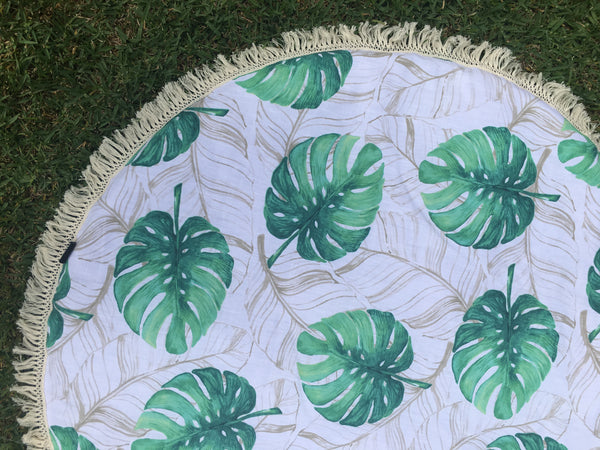 "Padded Baby Play Mat -  ""Tropical Green"""