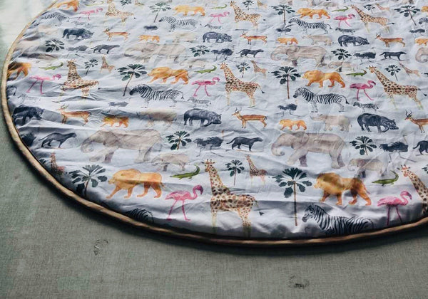 "Padded Baby Play Mat -  ""Safari Love"""