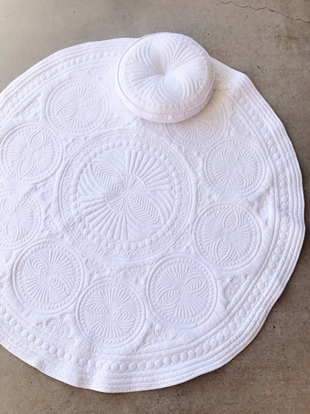 "Padded Baby Play Mat -  ""White Dream"""
