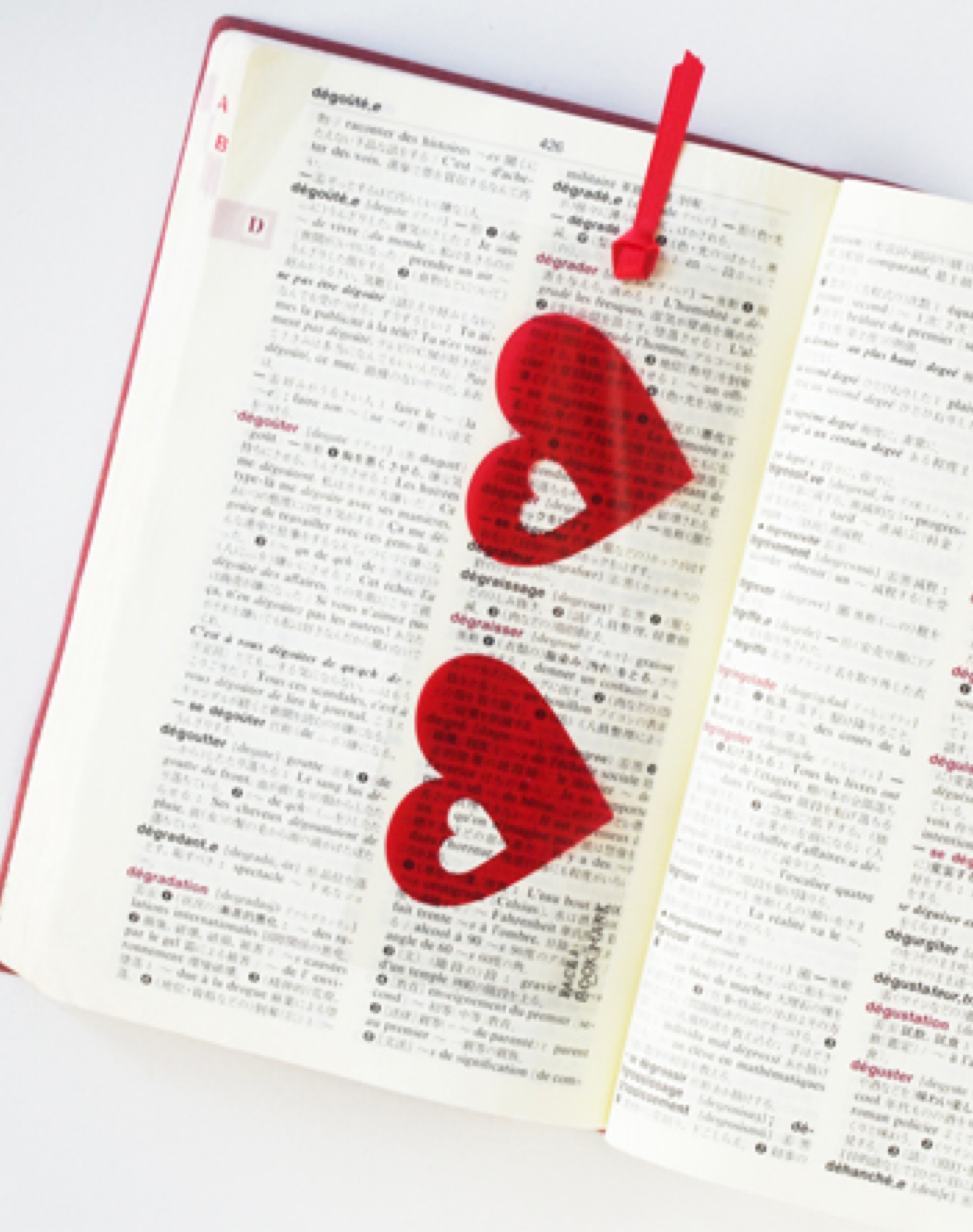Face bookmark heart