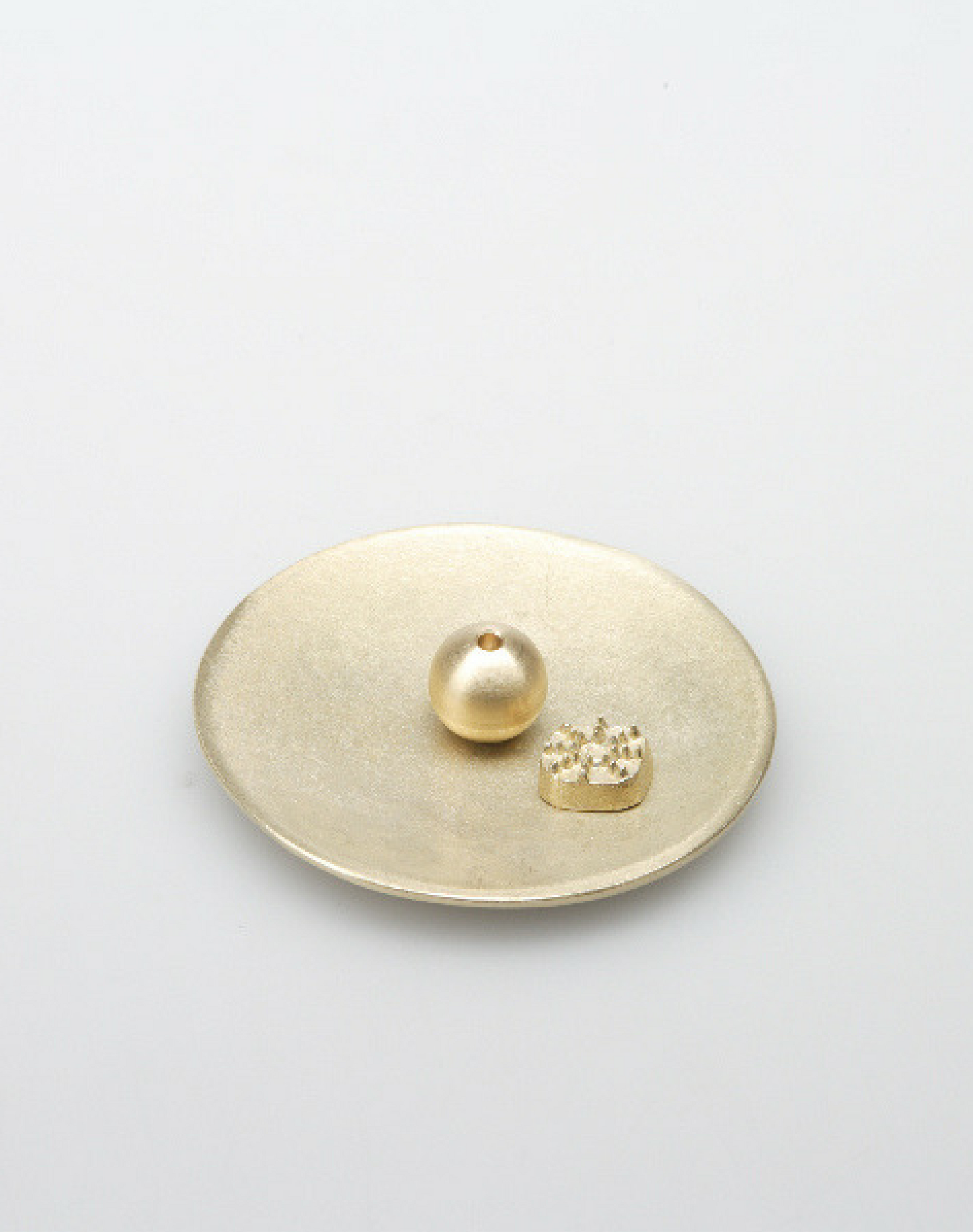 Incense stand Round brass