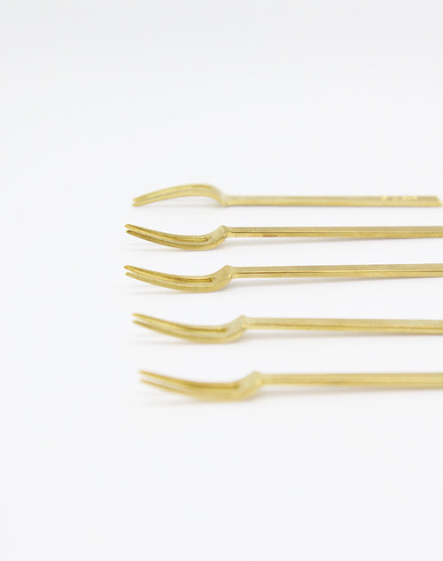 Brass Fork set of 5