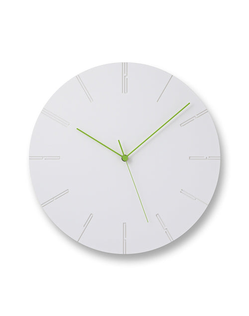 Carved II Clock White
