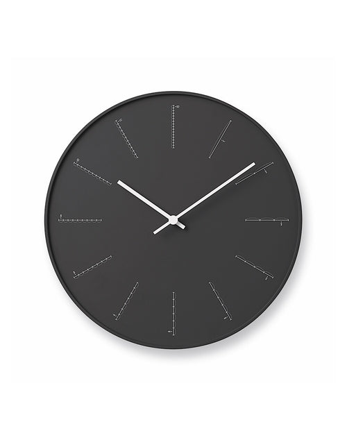 Divide Clock Black