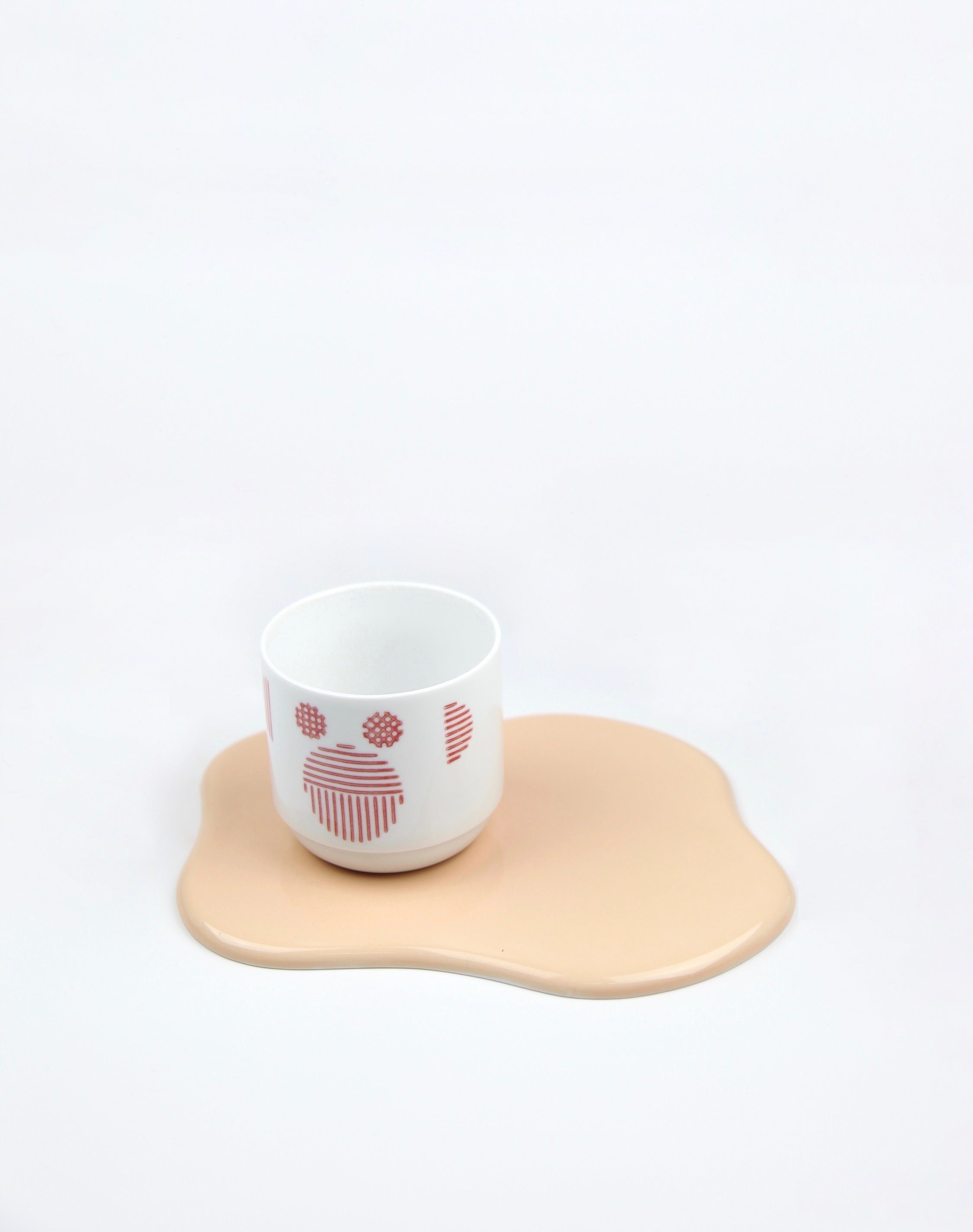 TAF pottery tray apricot GS030