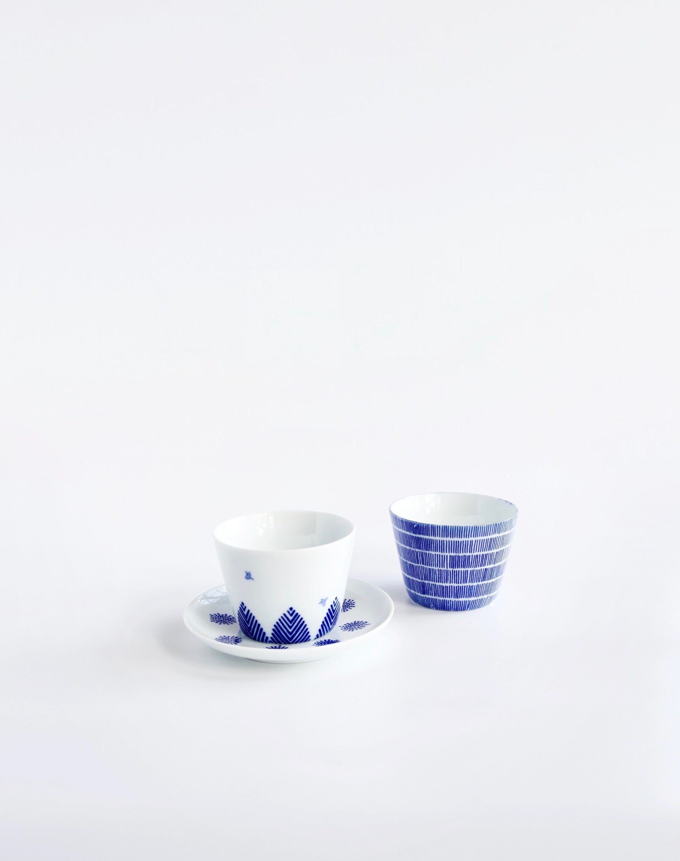 Soba Choko Cup Bird and tree