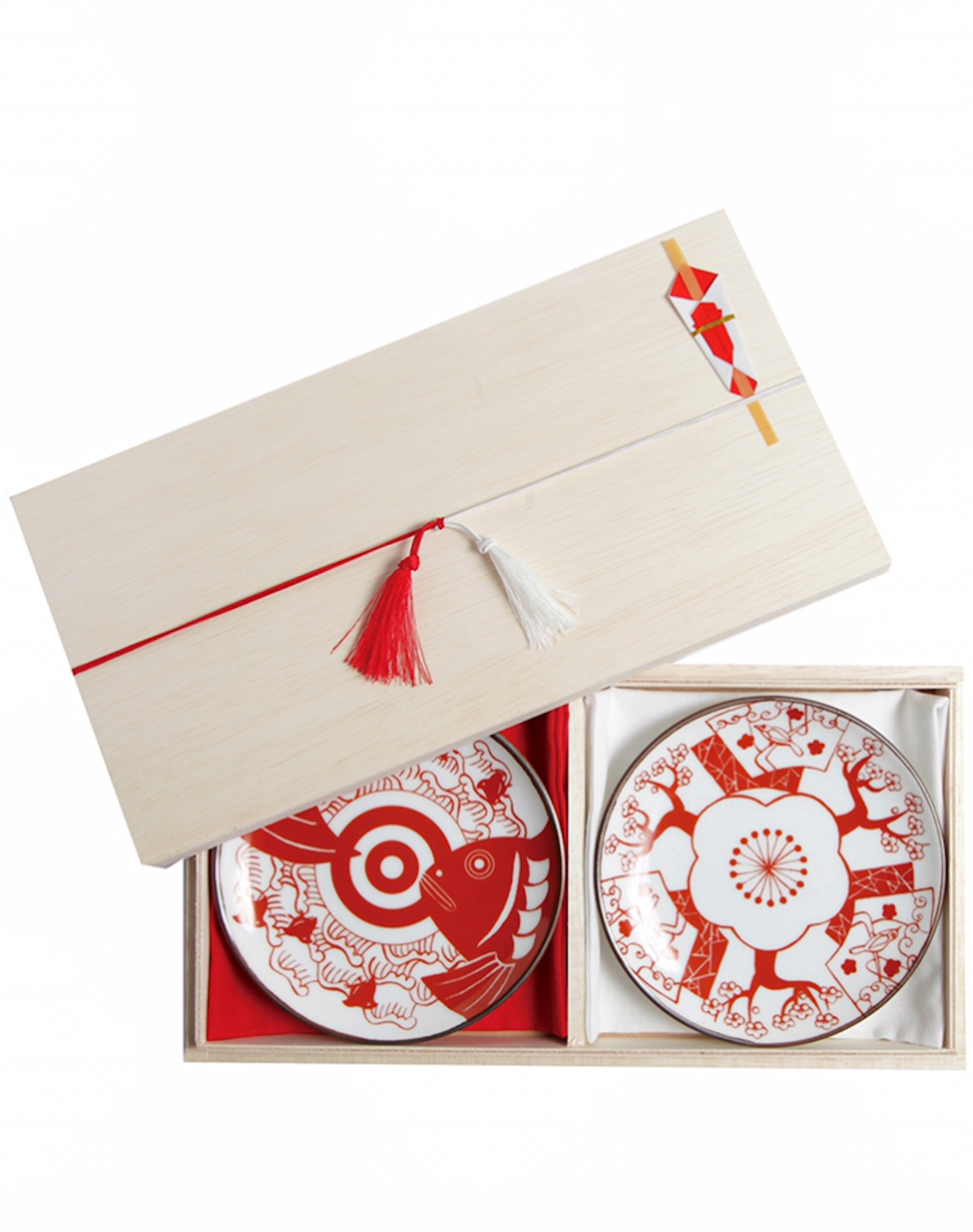 Wooden gift box for two small Kyototo plates