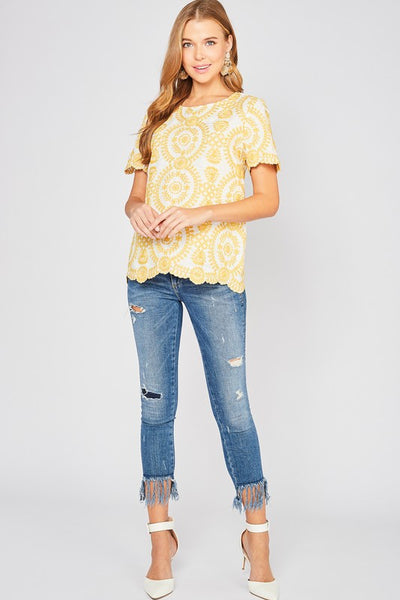 Here Comes the Sun Embroidered Blouse