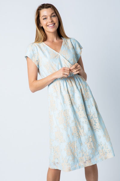 Forget Me Not Blue Lace Dress