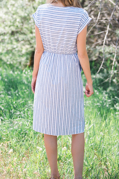 Chambray Striped Sundress