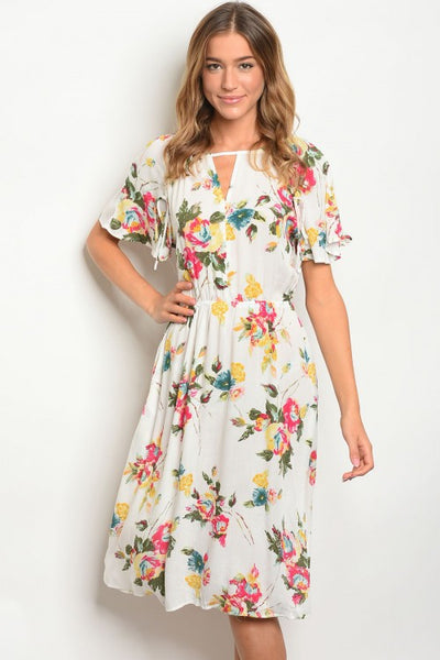 Sunny Floral Midi Dress