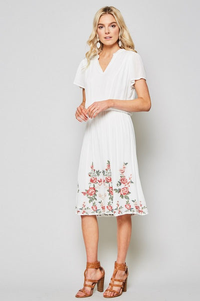 Chelsea Embroidered Floral Dress