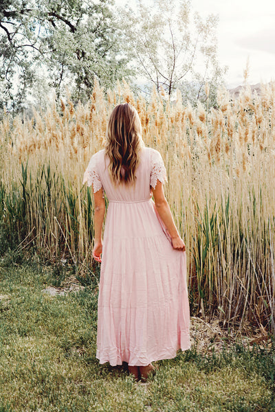 Serendipity Blush Maxi Dress