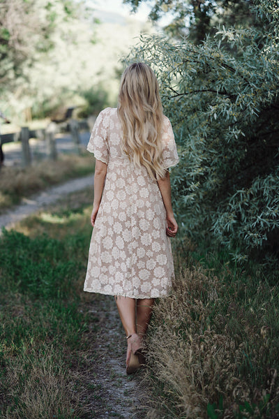 Crazy for You Lace Midi Dress