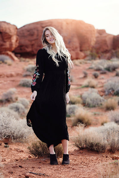 Sedona Embroidered Maxi Dress