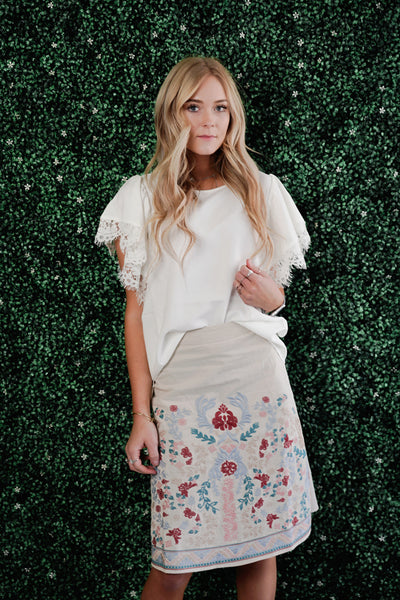Serena Embroidered Skirt