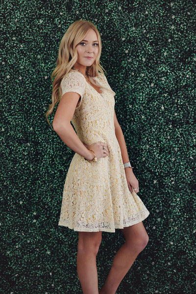 Amber Lace Overlay Dress