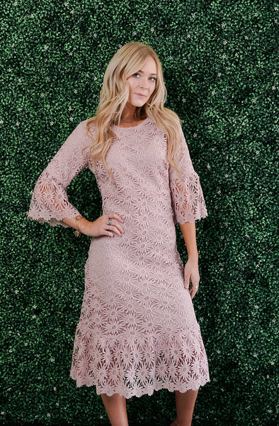 Blossom Pink Lace Dress