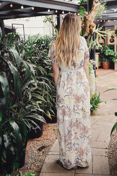 Easter Lily Maxi Dress