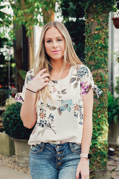 Wisteria Floral Blouse