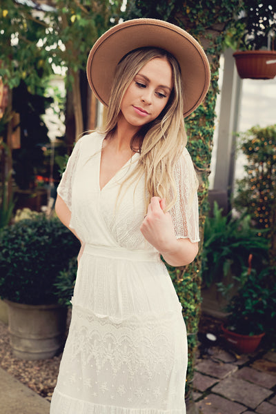 Dream a Little Dream Lace Maxi Dress- White