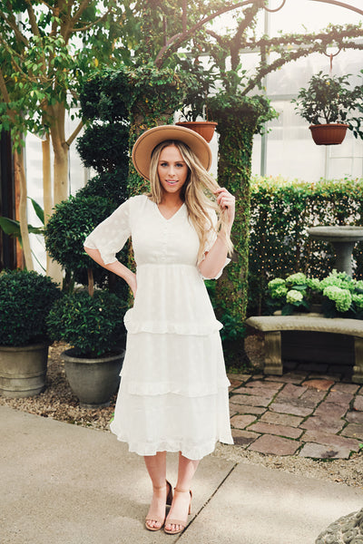 Monroe White Lace Dress