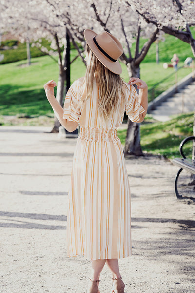 Sunny Stripes Midi Dress