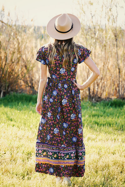 Shiloh Wrap Boho Floral Maxi Dress