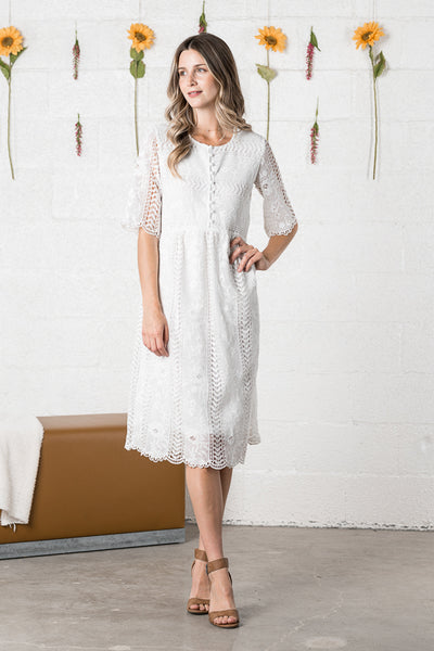Eva Dress- White