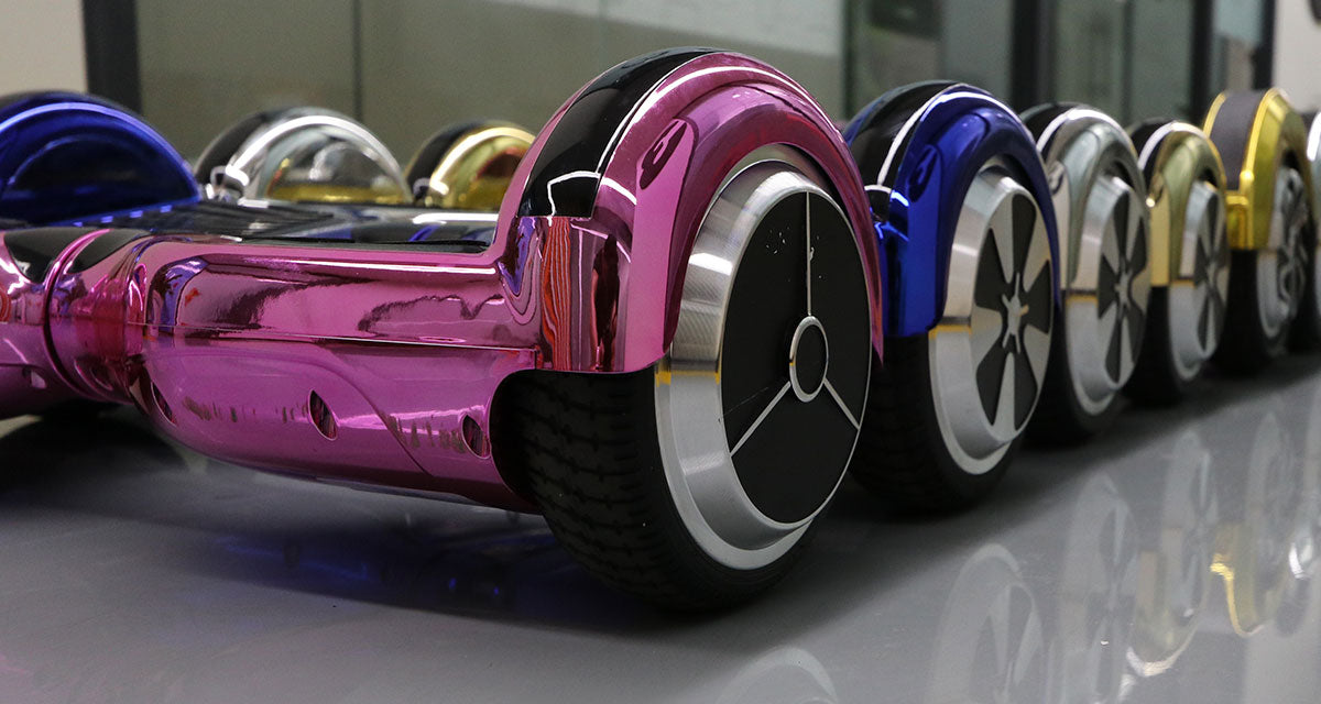 chrome color hoverboard