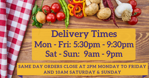 Vegan Pantry Brisbane - Delivery Times