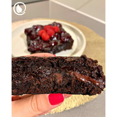 Vegan Super Creamy Brownie with Berry Coulis - Ju's Recipes - Vegan Pantry Brisbane