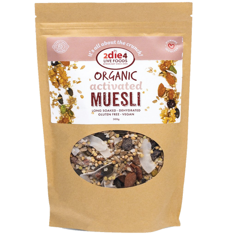 2DIE4 Live Foods Activated Organic Muesli Gf 300g - Vegan Pantry Brisbane