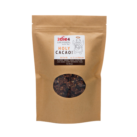2DIE4 Live Foods Holy Cacao! Cacao Granola Clusters GF 200g - Vegan Pantry Brisbane