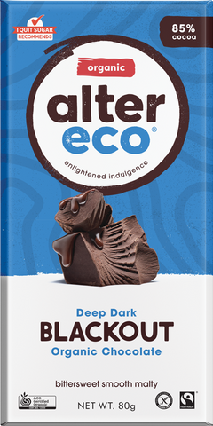 Alter Eco Deep Dark Blackout Organic Chocolate GF 80g - Vegan Pantry Brisbane