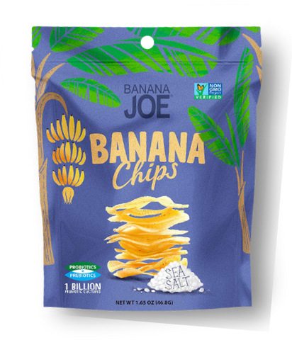 Banana Joe Banana Chips Sea Salt GF 46.8g - Vegan Pantry Brisbane