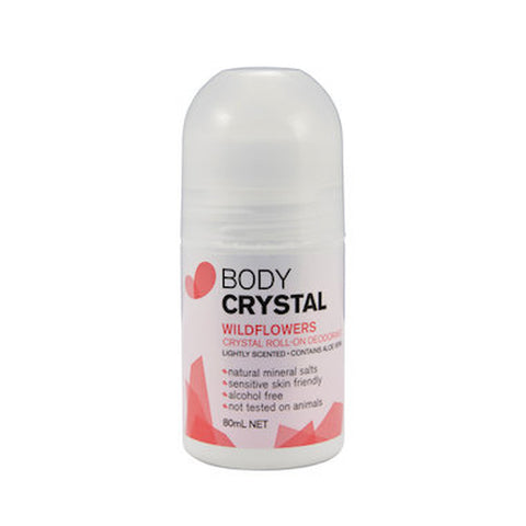 Body Crystal Wildflowers Roll On 80ml - Vegan Pantry Brisbane
