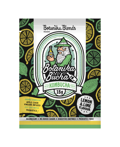 Botanika Blends Bucha Instant Kombucha Lemon Lime 15g LIMITED EDITION - Vegan Pantry Brisbane