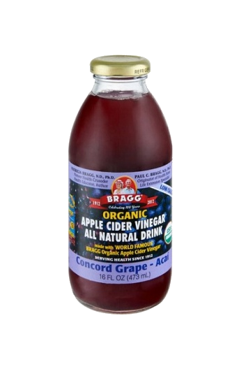 Bragg Organic Apple Cider Vinegar Drink Concord Grape & Acai 473ml - Vegan Pantry Brisbane