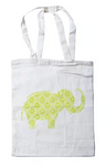Apple Green Duck Reusable Shopping Bag - Calico Mixed Animal Design (42cmx38cm) - Vegan Pantry Brisbane